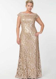 Вечернее платье кружевное для мамы невесты