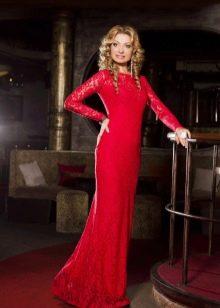 Красное платье для мамы невесты