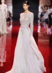 Лавандовое вечернее платье для мамы невесты