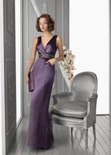 Вечернее платье для мамы невесты фиолетовое