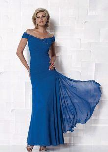 Синее платье для мамы невесты
