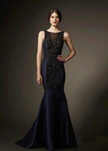 Черное вечернее платье русалка