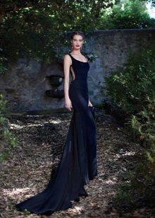 Вечернее платье русалка с вырезом на талии