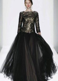 Вечернее платье с металлическим эффектом в тол