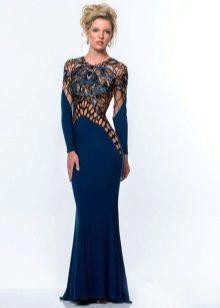 Платье с ажуром вечернее