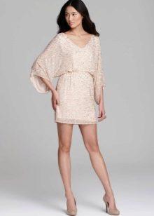 Вечернее короткое платье-туника