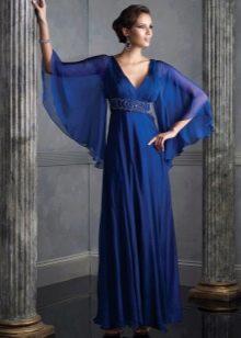 Вечернее платье в греческом стиле с рукавами