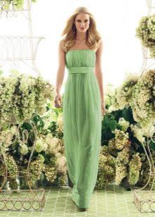 Вечернее платье светло-зеленого цвета