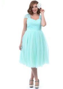 Мятное платье для полных