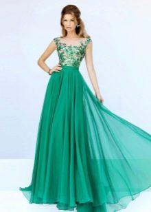 Зеленое вечернее платье красивое