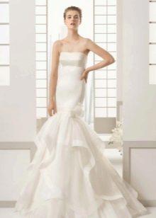 Свадебное платье из атласа русалка