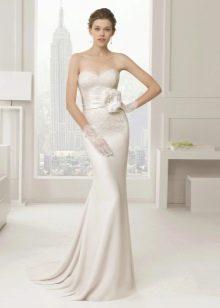 Свадебное платье атласное белорусское