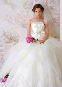 Свадебное платье с атласным верхом