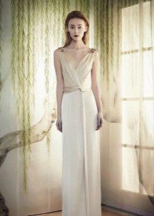 Вечернее белое платье от Марчезы