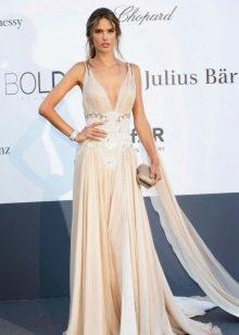 Вечернее платье  греческом стиле белое
