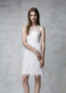 Короткое вечернее платье кружевное