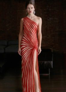 Бело-красное вечернее платье от Ним Хан