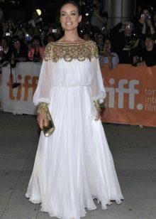 Вечернее платье белое для полных