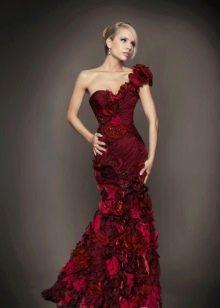 Русалка вечернее бордовое платье