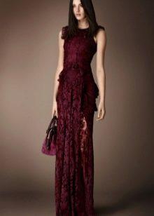 Платье вечернее цвета бордо