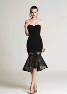 Короткое вечернее платье черное