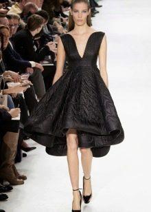 Вечернее платье от Диор черное короткое