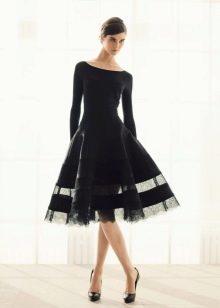 Закрытое вечернее короткое платье от Донна Каран