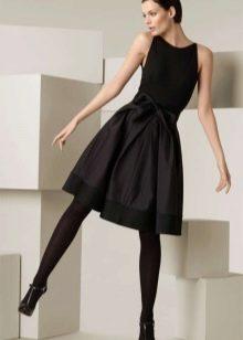 платье с пышной юбкой вечернее черное от Донна Каран