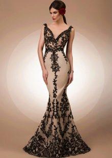 Платье из кружева черное вечернее