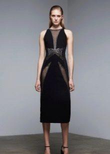 Вечернее платье со вставками черное