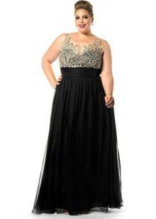 Платье черное вечернее для полных