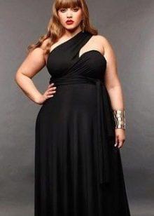 Греческое вечернее платье для полных