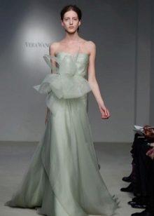 Свадебное платье прямое пастельного оттенка