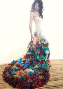 Свадебное платье цветное русалка