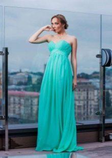 Зеленое вечернее платье дешевое