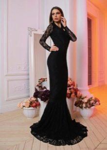 Кружевное недорогое вечернее платье в пол