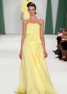 Вечернее платье от Carolina Herrera желтое