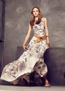 Вечернее платье с абстракцией от Roberto Cavalli