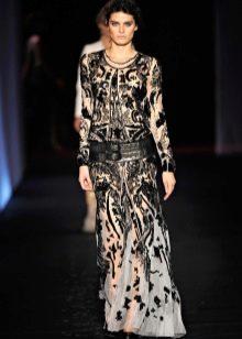 Черное вечернее платье от Roberto Cavalli