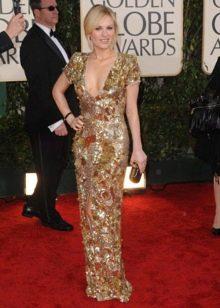 Вечернее платье от Alexander Mcqueen золотое