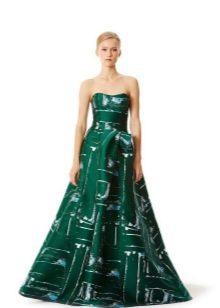 Вечернее платье от Carolina Herrera зеленое
