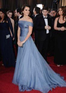 Вечернее сине-серое платье от Армани