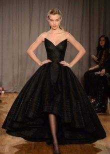 Вечернее платье от Zac Posen короткое спереди