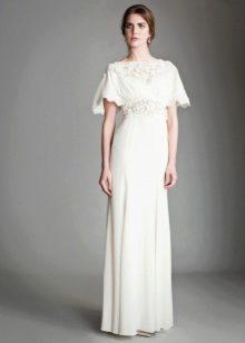 Прямое свадебное платье закрытое