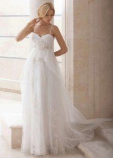 Свадебное платье в стиле ампир из шифона