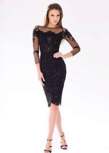 Черное вечернее платье кружевное