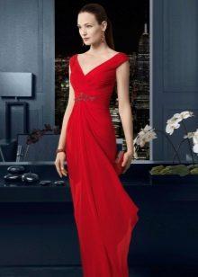 Красное вечернее платье от Роза Клара