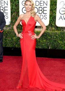 Красное вечернее платье Хайди Клум