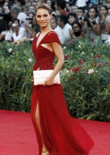 Красное вечернее платье Натали Портман