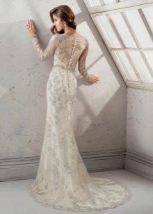 Свадебное платье с цветным кружевом